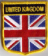 Great Britain Union Jack Embroidered Flag Patch, style 07.